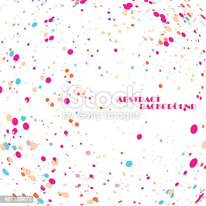 istock Abstract colorful frame of circles 467139672