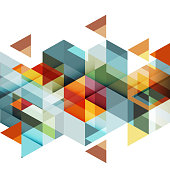 istock Abstract colorful geometric and modern overlapping triangles on white. 611784572
