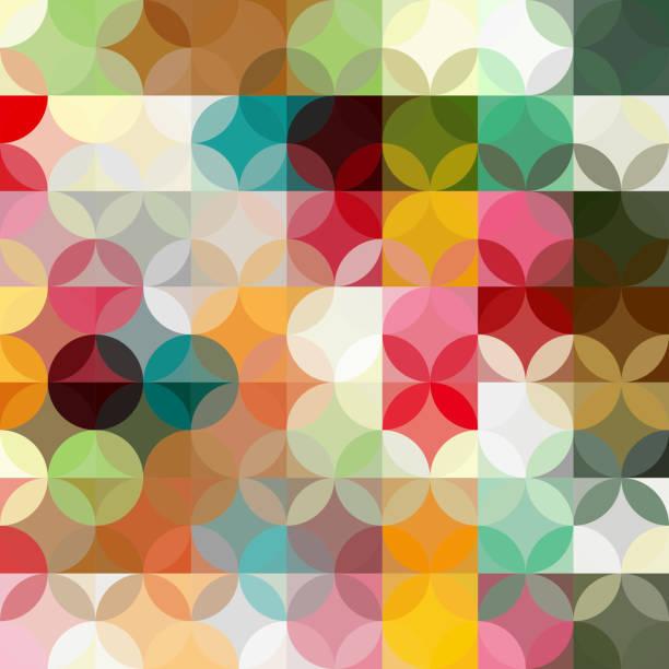 abstrakt farbigen geometrischen hintergrund - stoffmalerei stock-grafiken, -clipart, -cartoons und -symbole