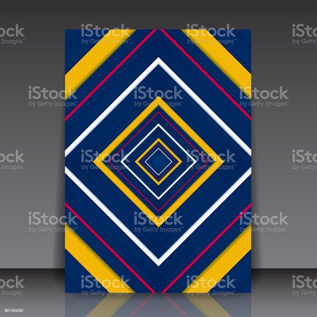 Abstrakte Bunten Geometrischen Quadrat Editierbare Flyer Vorlage ...