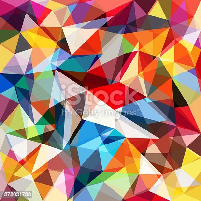 624878906 istock photo Abstract colorful geometrical background 878031788