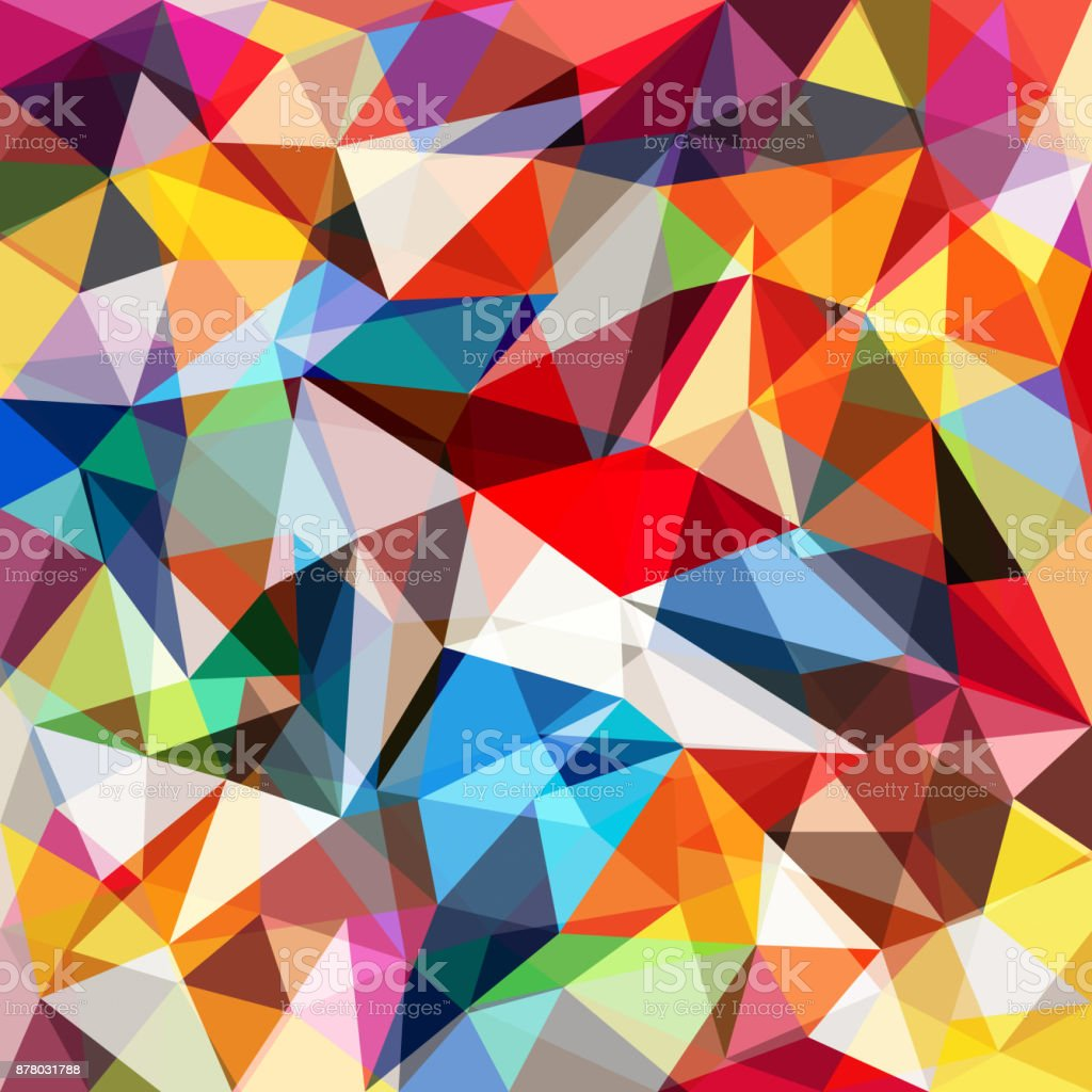 Abstract colorful geometrical background vector art illustration