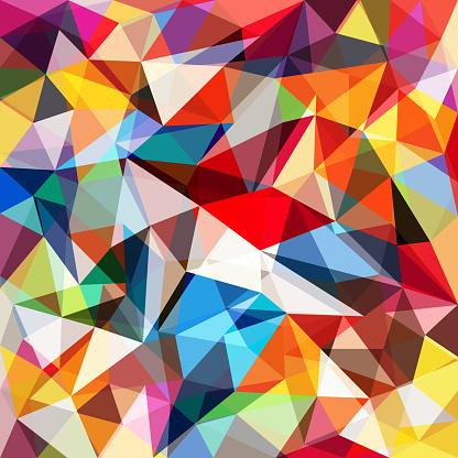 Abstrakt Färgglada Geometriska Bakgrund-vektorgrafik och fler bilder på Abstrakt