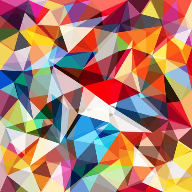 ilustraciones, imágenes clip art, dibujos animados e iconos de stock de abstracto colorido fondo geométrico - fondos mosaicos