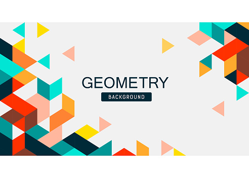 Abstract Colorful Geometry banner design