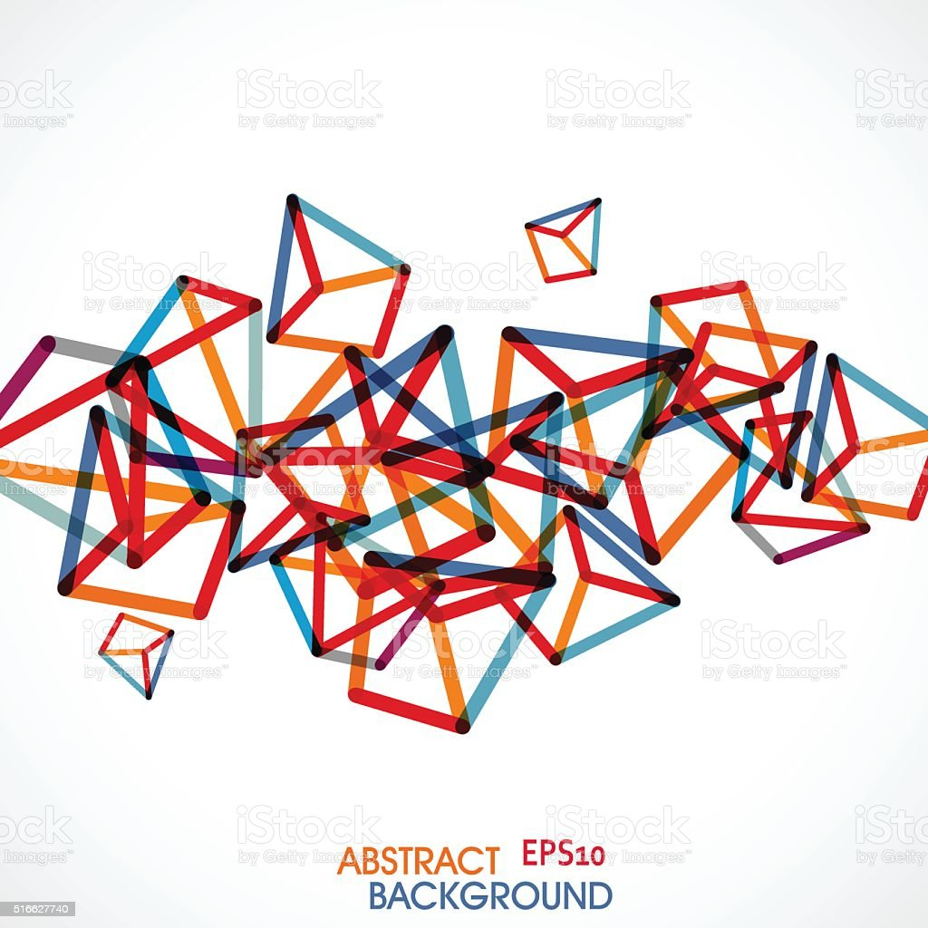 abstract colorful geometry retro pattern background vector art illustration