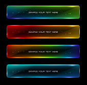 Abstract colorful glowing options. Useful for presentations or web design.