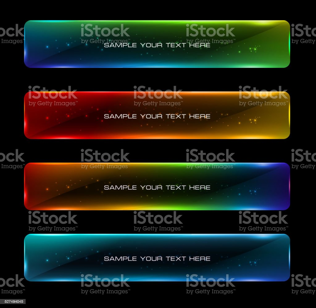 Abstract colorful glowing options. vector art illustration