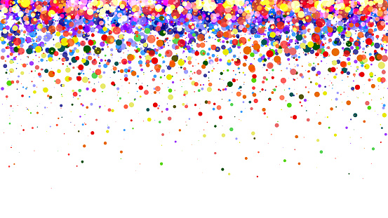 Abstract colorful gradient background. Multicolored dots on white background