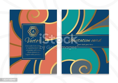 istock Abstract colorful greeting card design. Luxury vector ornament template. Great for invitation, flyer, menu, brochure, wallpaper, decoration, packaging or any desired idea. 1304169461
