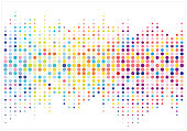Abstract colorful halftone texture dots pattern. vector illustration