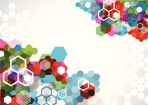 abstract colorful hexagon pattern background