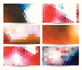 abstract colorful hexagon pattern label for design.(ai eps10 with transparency effect)