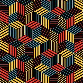 abstract colorful hexagon stripe pattern background for design