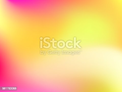 Abstract horizontal blur colorful gradient background with pink, yellow, lime and orange colors for deign concepts, wallpapers, web, presentations and prints. Vector illustration.