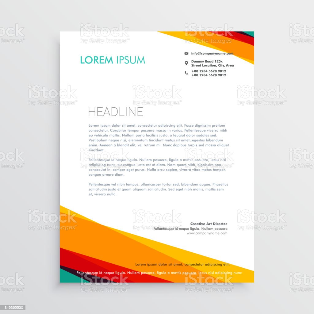 Abstract colorful letterhead design template for your company stock abstract colorful letterhead design template for your company royalty free abstract colorful letterhead design template spiritdancerdesigns Image collections