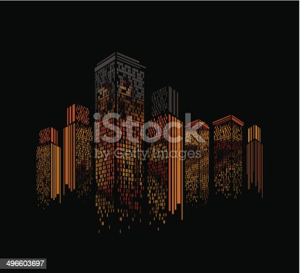 istock abstract colorful modern building pattern background 496603697