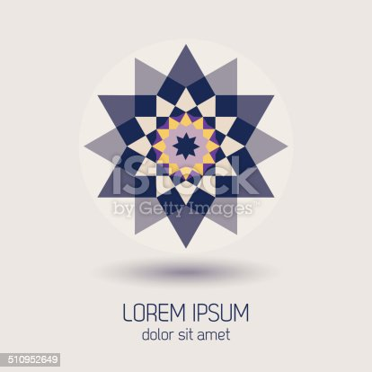 Abstract colorful modern geometrical icon