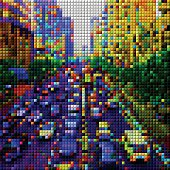 abstract colorful mosaic check city transportation pattern background