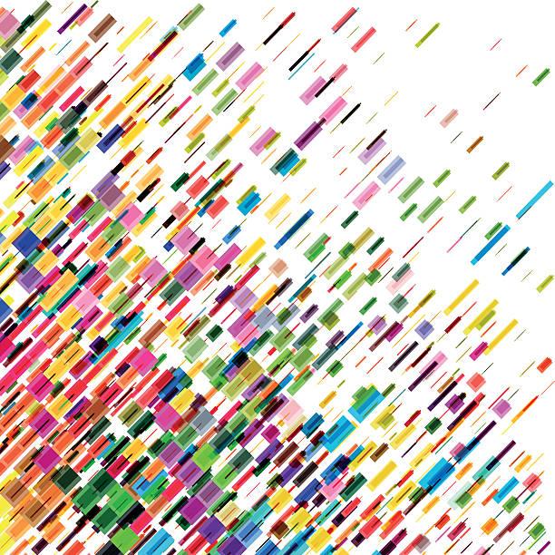abstrakte farbenfrohe beweglichen linien vektor hintergrund - kunstaktivitäten stock-grafiken, -clipart, -cartoons und -symbole
