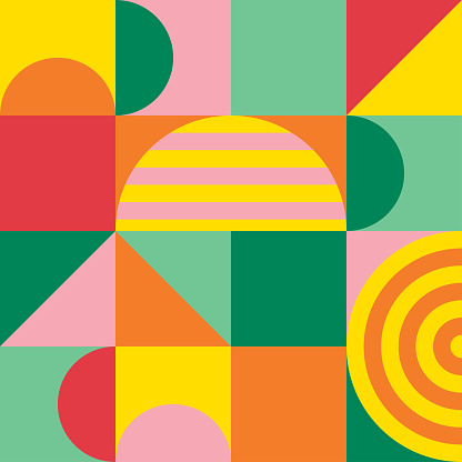 Abstract colorful of geometric shapes pattern. Texture trendy design for poster and cover template background. Vector illustration