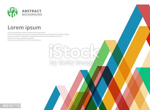 istock Abstract colorful overlap triangle pattern on white background with copy space 905167710