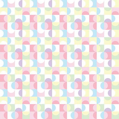 Abstract colorful pastel geometric random pattern