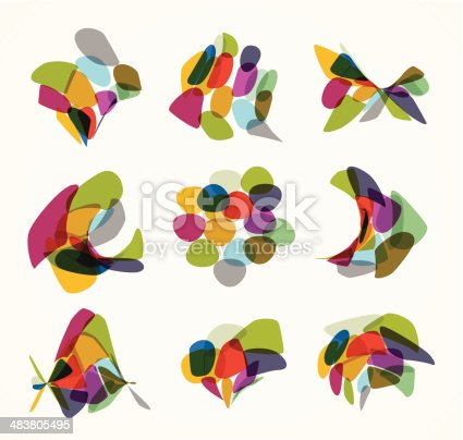 abstract colorful pattern background for design.(ai eps10 with transparency effect)