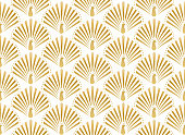 Geometric art-deco wallpaper.
