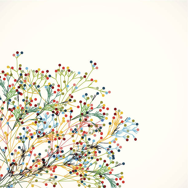 abstract colorful plant pattern background vector art illustration