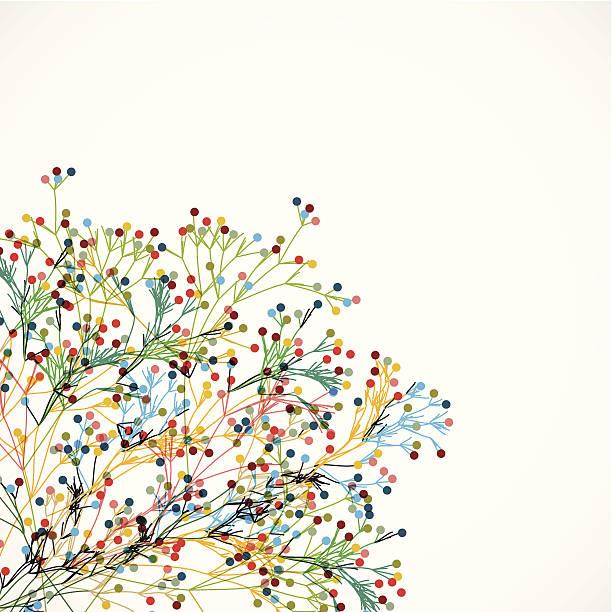 ilustraciones, imágenes clip art, dibujos animados e iconos de stock de patrón de fondo abstracto colorido planta - moda de otoño