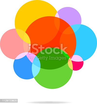 Abstract colorful polka dot pattern