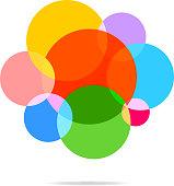 Abstract colorful polka dot pattern