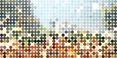 abstract colorful polka dots pattern background for design