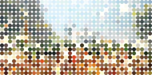 abstract colorful polka dots pattern background - preppy fashion stock illustrations, clip art, cartoons, & icons