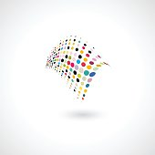 abstract colorful polka dots shape for design