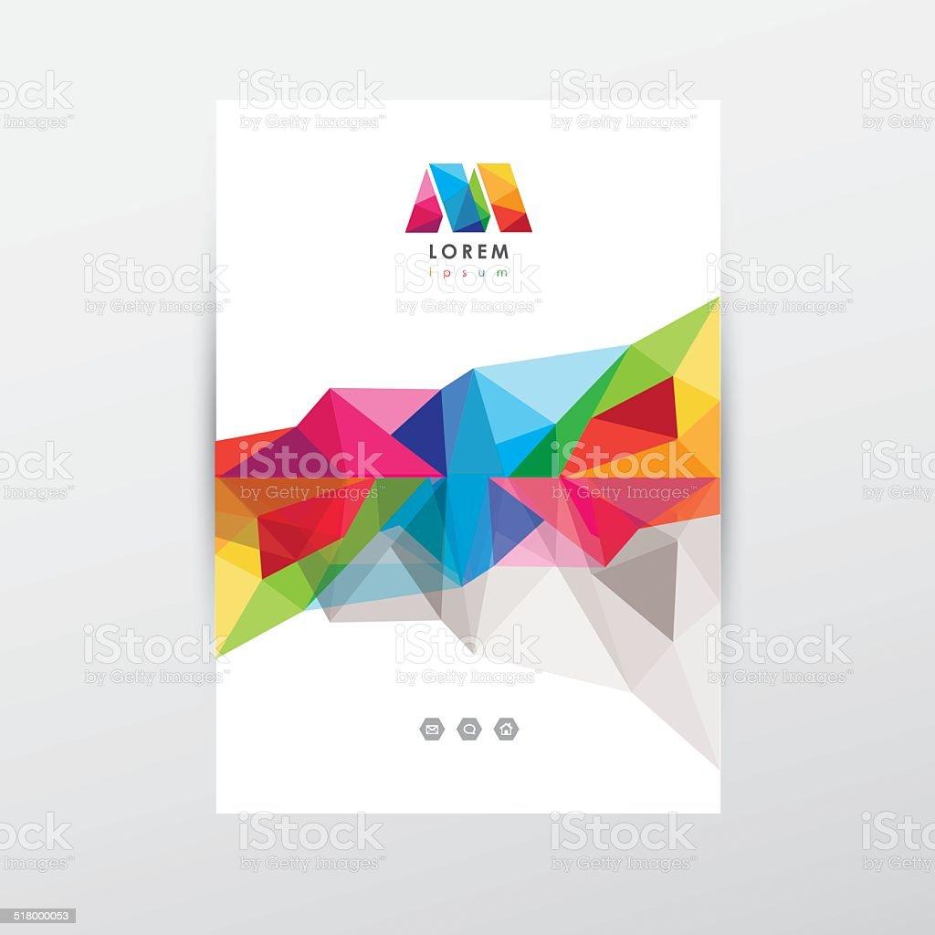 Ilustración de Abstract Polygonal Colorido Folleto Plantilla De ...
