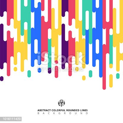 Abstract colorful Rounded Lines Halftone Transition. Vector Background Illustration