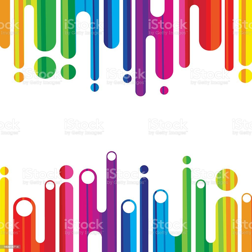 Abstract colorful shapes on a white background royalty-free stock vector art