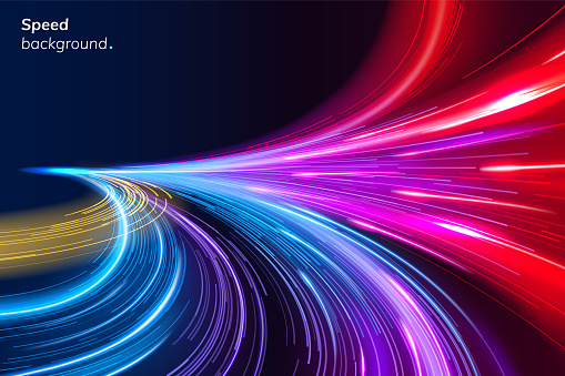 Abstract colorful speed background with lines