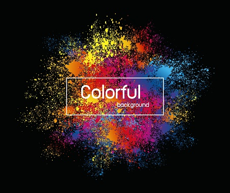 Abstract colorful splashes background design vector illustration