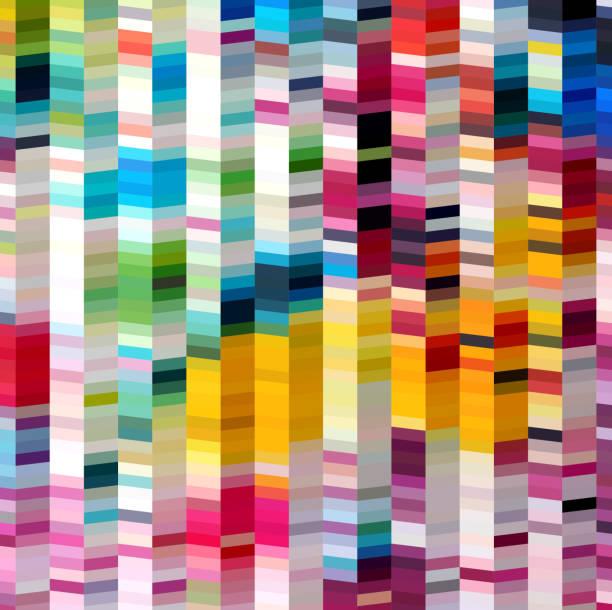 illustrations, cliparts, dessins animés et icônes de abstrait de rayures colorées en fond - arrière plans artistiques
