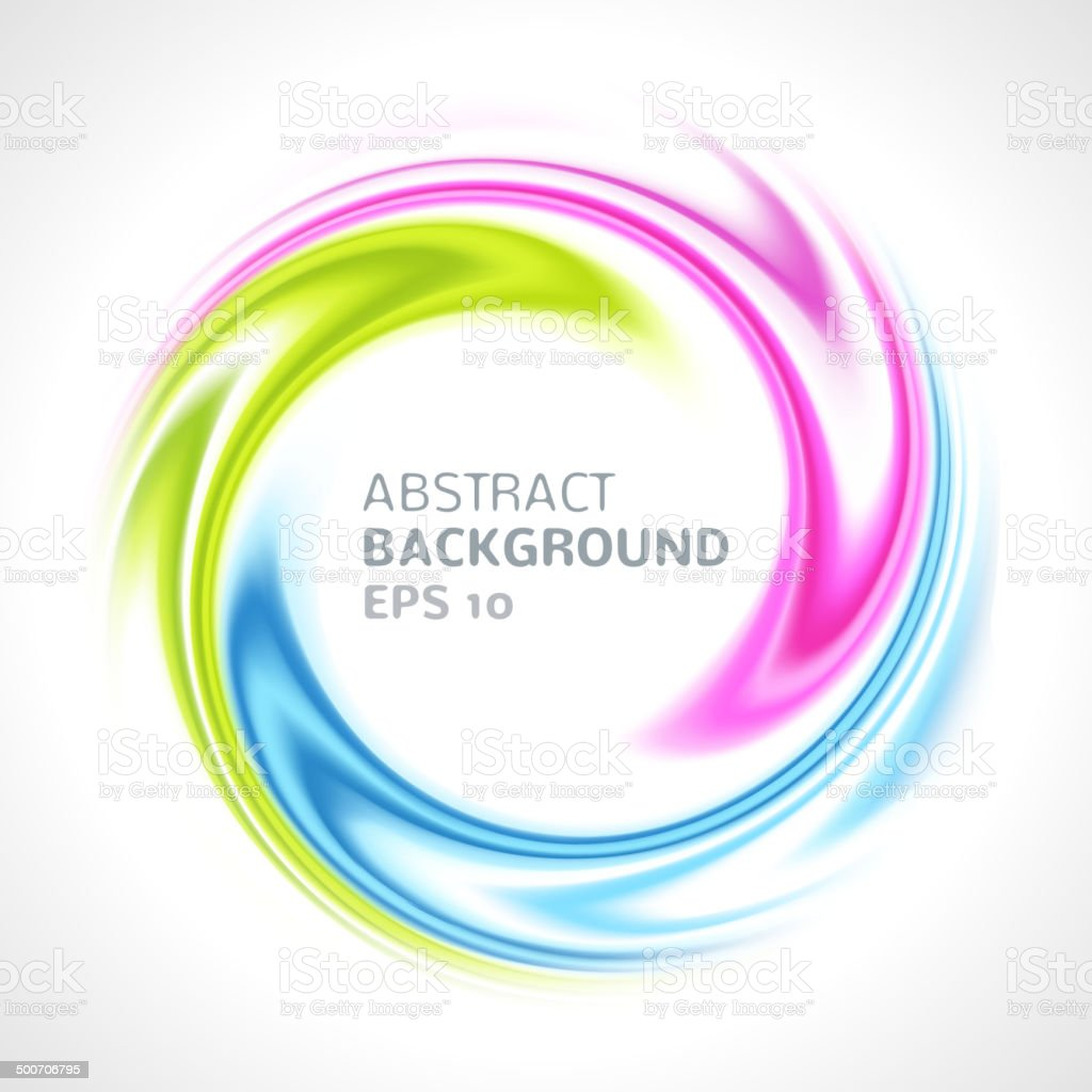 Abstract colorful swirl circle bright background vector art illustration