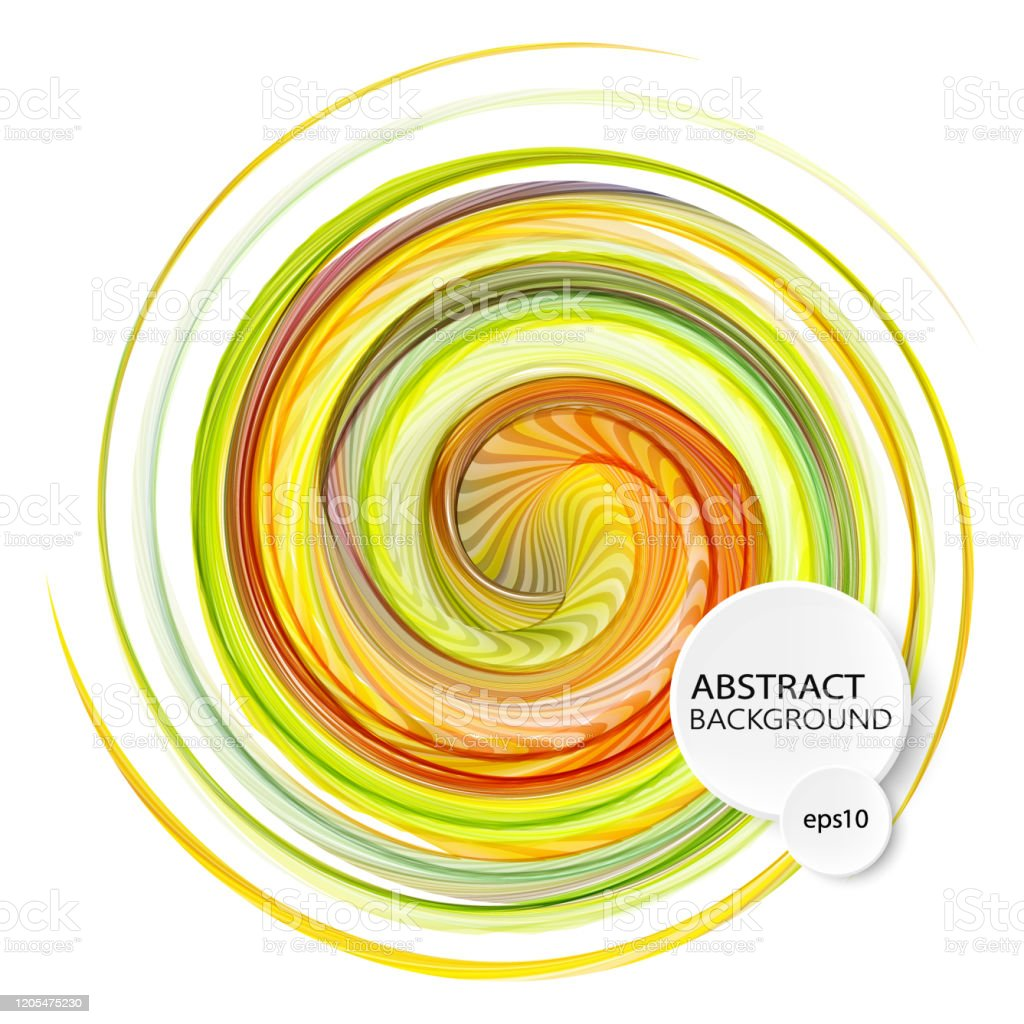 Abstract Colorful Swirl Circle On Transparent Background Vector Illustration For You Modern Design Round Frame Or Banner With Place For Text Special Effects Stock Illustration Download Image Now Istock