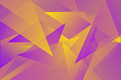 abstract geometric pink, purple and yellow triangle overlay vector background