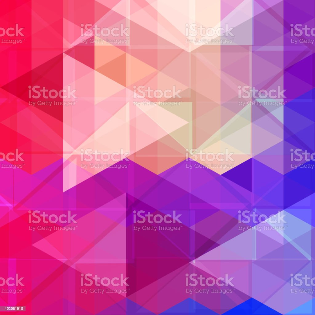 Abstract colorful triangle pattern background. Vector. vector art illustration