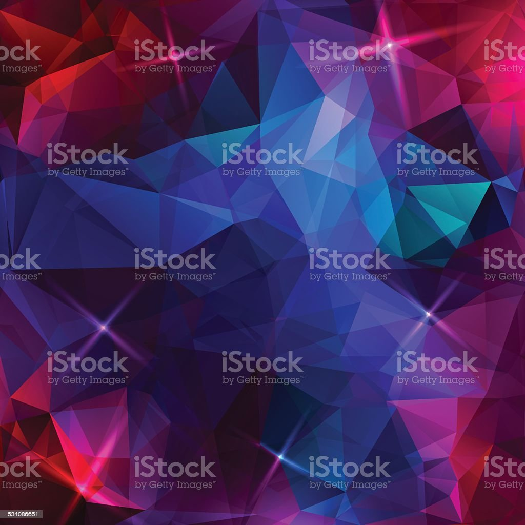 Abstract colorful triangles background vector art illustration