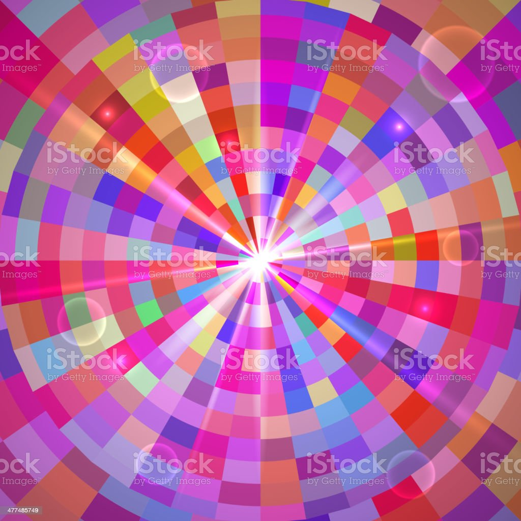 Abstract Colorful Tunnel. Vector royalty-free stock vector art