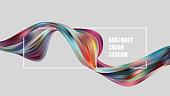 Abstract colorful vector background, color flow liquid wave for design brochure, website, flyer. Stream fluid