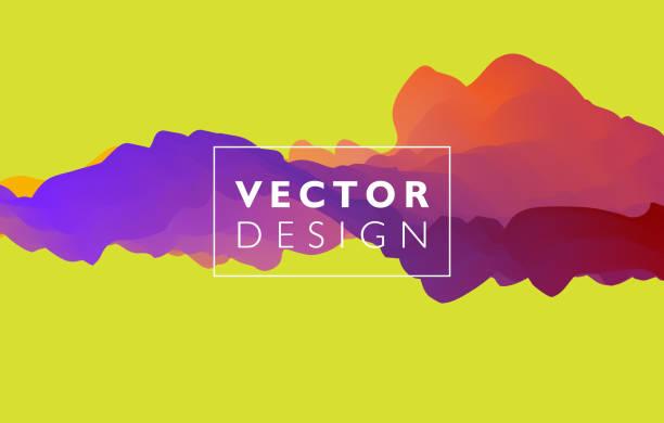 ilustrações, clipart, desenhos animados e ícones de abstrato colorido vector base, onda líquida de cor fluxo para brochura de projeto, site, panfleto. - organic shapes